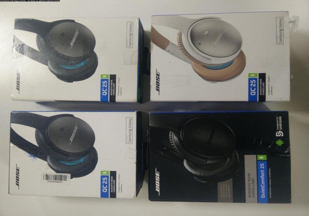 12 bose quietcomfort acoustic noise cancelling headphones for samsung and android devices   like new condition   with 1 year bose warranty   31st july