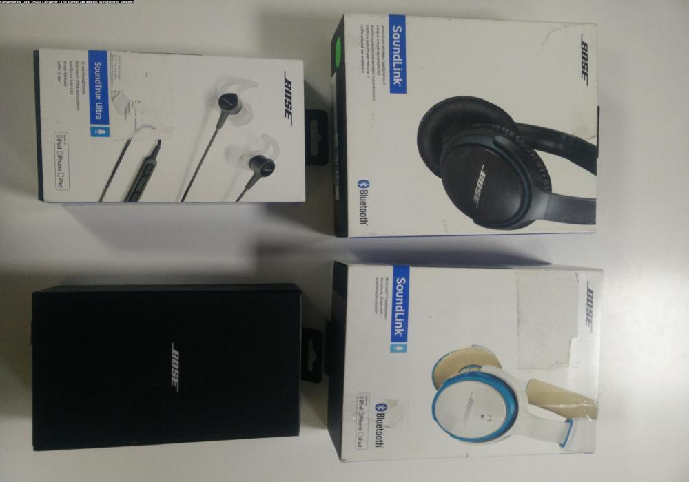 18 bose headphones   like new condition   with 1 year bose warranty   31st july