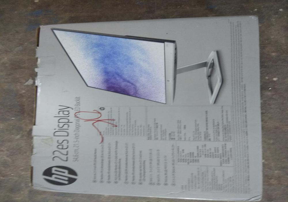 12 hp 22es 21.5 inch ips led monitor   like new condition   13th oct