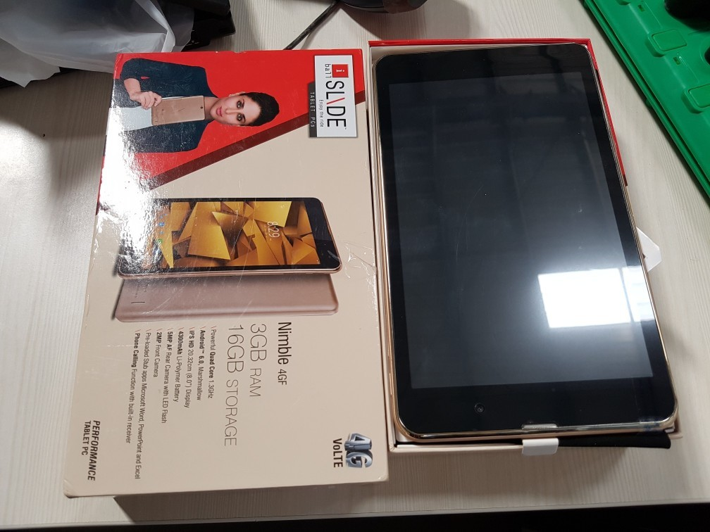 3 fully functional iball slide nimble 4gf tablet %288 inch  16gb  wi fi   4g lte   voice calling%29  rose gold  6th feb