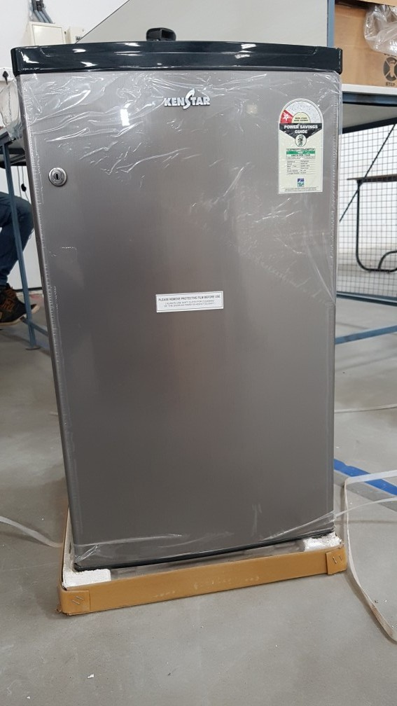 18 functional ken star nc090  single door refrigerator 180 ltrs silver hairline    customer return warranty claimable  013
