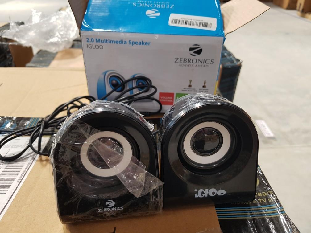 410 functional zebronics igloo 2.0 channel multimedia speakers %28black%29   customer return warranty claimable   31st march